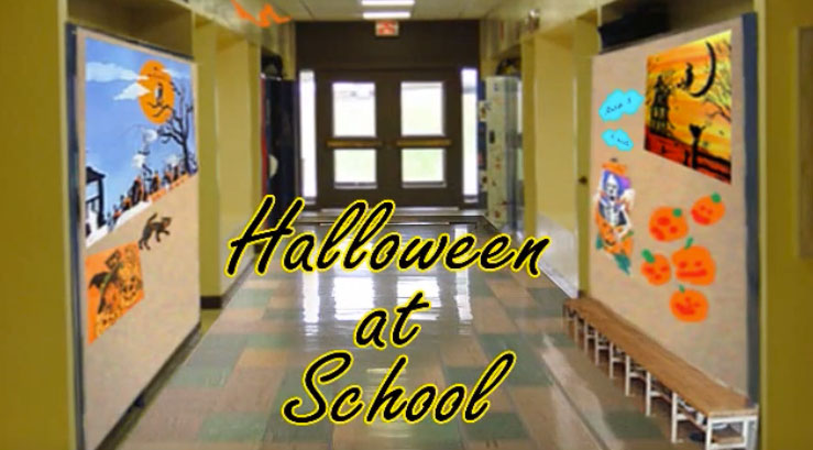 halloween hallway at school